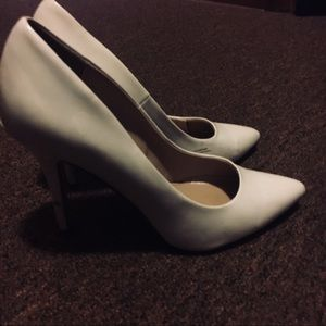 Shoes - White pointy high heels